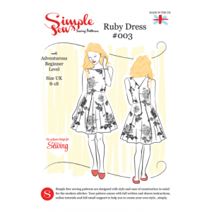Simple Sew Ruby dress free with Love Sewing Magazine.